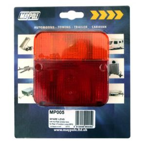 Rear Lamp - Square  - Lens Only - 003