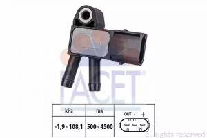 DPF (Exhaust Pressure) Sensor FACET 10.3294
