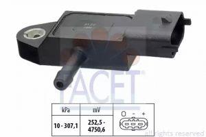 DPF (Exhaust Pressure) Sensor FACET 10.3348