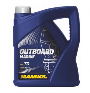 MANNOL Outboard Marine Two-Stroke Outboard Engine Oil (1 Litre, 4 Litres)