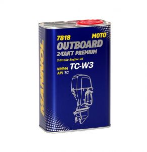 MANNOL 7818 Outboard 2-Takt Premium High Performance Synthetic Outboard Engine Oil (1 Litre, 4 Litres)