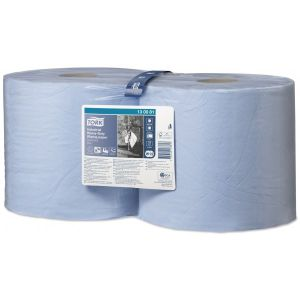 3 Ply Premium Industrial Heavy Duty Wiping Paper - Blue - 2 x 119m Combi Rolls