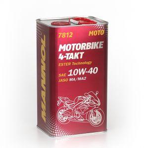 MANNOL 7812 Motorbike 4-Takt Motorcycle Engine Oil 10W-40 (1 Litre, 4 Litres)