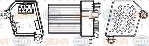Heater Blower Regulator HELLA 5HL 351 311-521