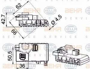 Heater Blower Regulator HELLA 5HL 351 321-611