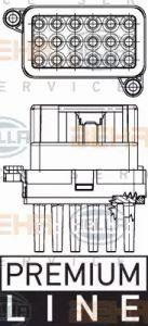 Heater Blower Regulator HELLA 5HL 351 332-341