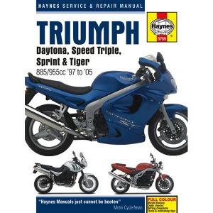 Motorcycle Manual - Triumph Daytona, Speed Triple, Sprint & Tiger (1997-2005)