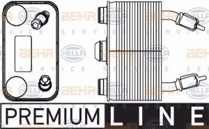Gearbox Oil Cooler HELLA 8MO 376 778-191