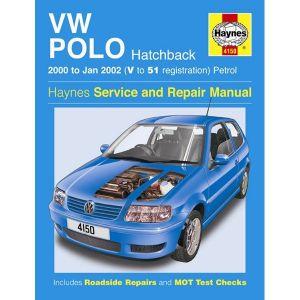 VW Polo Hatchback Petrol (00 - Jan 02) V to 51 Reg - Car Manual