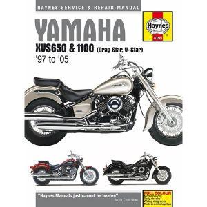 Motorcycle Manual - Yamaha XVS650 & 1100 Drag Star/V-Star (1997-2005)