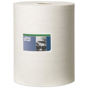 1 Ply Premium Heavy Duty Cleaning Cloth - White - 106m Combi Roll