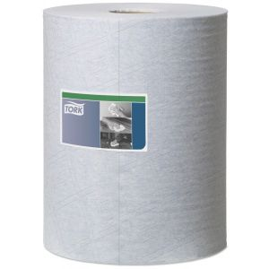 1 Ply Premium Heavy Duty Cleaning Cloth - Blue - 106m Combi Roll
