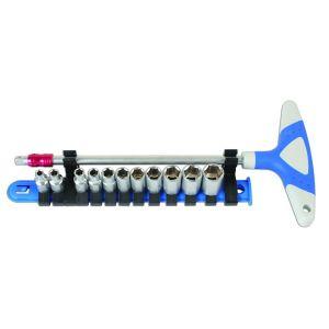 T-Handle Socket Set - 1/4in.D - 12 Piece