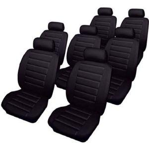 Car Seat Covers Leatherlook - Set - Black - Vauxhall Zafira (2000-05)