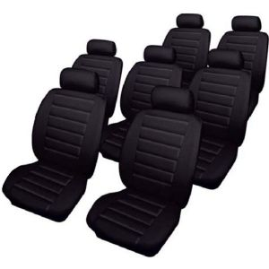 Car Seat Covers Leatherlook - Set - Black - Ford Galaxy (2000-06)