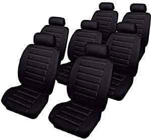 Car Seat Covers Leatherlook - Set - Black - Seat Alhambra (2000-2010)