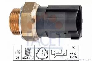 Radiator Fan Temperature Switch FACET 7.5690