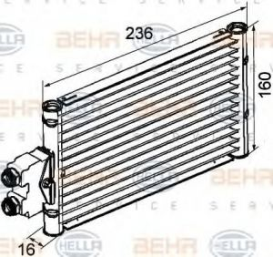 Oil Cooler, automatic transmission for Mercedes CLS, E, M class - HELLA 8MO376747-201