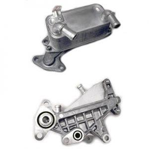 Oil Cooler, automatic transmission for Skoda Octavia, Superb, VW Passat - HELLA 8MO376725-311