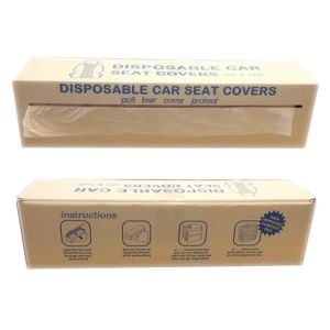 Disposable White Seat Covers - Roll of 100