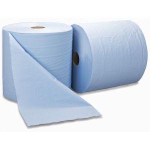 3 Ply Blue Bumper Wiping Roll - 300m x 370mm