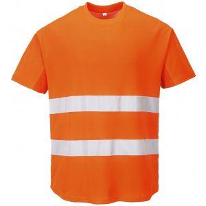Hi-Vis Mesh T-Shirt - Orange - XX Large