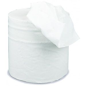 2 Ply White Centrefeed Roll - 125m x 190mm - Pack of 6