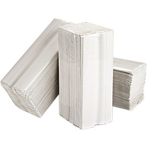 2 Ply White C-Fold Paper Hand Towels - 15 Packs of 160 Sheets