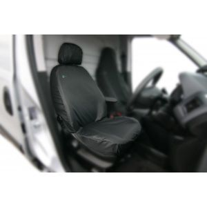 Van Seat Covers - Front Set - Black - Ford Connect Base
