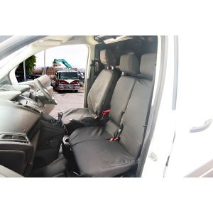Van Seat Covers - Front Seats - Black - Ford Connect 2014 Onwards