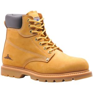 Welted Safety Boots SB - Honey - UK 8