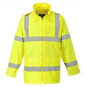 Hi-Vis Rain Jacket - Yellow - Large