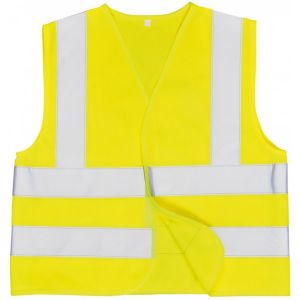 Junior Hi-Vis Vest - Yellow - Age 7 to 9