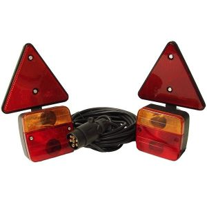 Trailer Lighting Unit inc Triangles - Magnetic - 6m Cable
