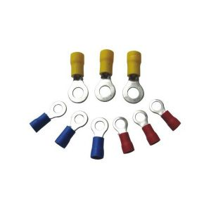 Wiring Connectors - Yellow - Ring - 8mm - Pack of 25