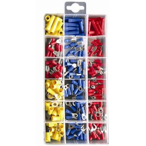 Wiring Connectors - Crimp Type - Assorted - Pack of 180
