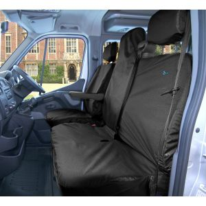 Van Seat Covers - Front Set - Black - Renault Master, Nissan NV400 & Vauxhall Movano