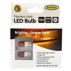 Filament Style LED - WY5W 12V - Amber
