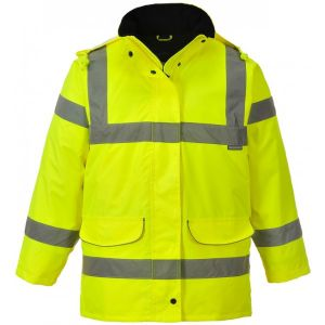 Hi-Vis Ladies Traffic Jacket - Yellow - Large