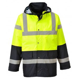 Hi-Vis Contrast Traffic Jacket - Yellow/Black - Medium