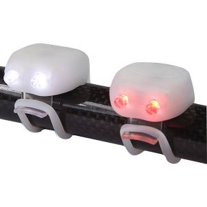 MegaMini Twin LED Silicone Cycle Light Set - White