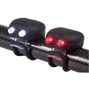 MegaMini Twin LED Silicone Cycle Light Set - Black