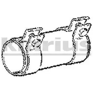 Pipe Connector, exhaust system KLARIUS SLV6