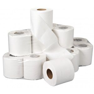 2 Ply White Toilet Rolls - 36 Rolls of 200 Sheets
