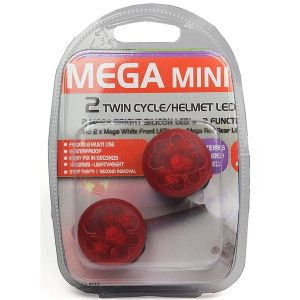 MegaMini LED Twin Cycle/Helmet Light Set