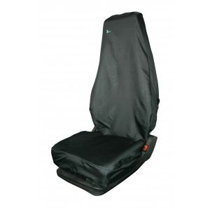 Universal Seat Cover - Single - High Back - Black