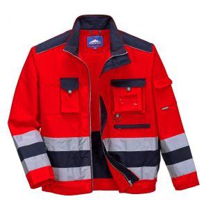 Lille Texo Hi-Vis Jacket - Red/Navy - Large