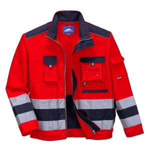 Lille Texo Hi-Vis Jacket - Red/Navy - Extra Large