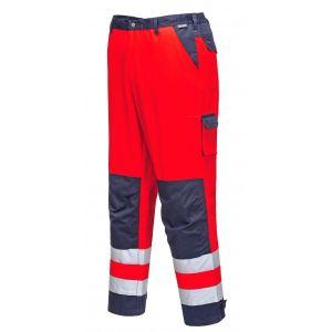 Lyon Texo Hi-Vis Trousers - Red/Navy - Small