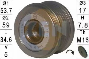 Alternator Freewheel Clutch ERA 219137